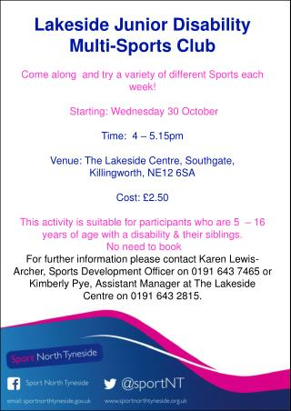 Lakeside Junior Disability  Multi-Sports Club