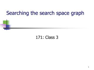 Searching the search space graph