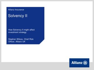 Allianz Insurance Solvency II