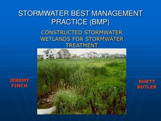 STORMWATER BEST MANAGEMENT PRACTICE (BMP)