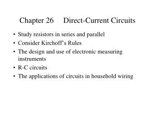 Chapter 26     Direct-Current Circuits