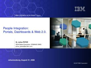 People Integration: Portals, Dashboards & Web 2.0.