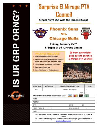 PACKAGE INCLUDES: Discounted ticket to a Suns game Early  entry for the WHOLE group to  watch