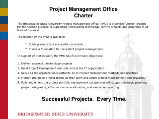 Project Management Office  Charter
