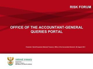 OFFICE OF THE ACCOUNTANT-GENERAL QUERIES PORTAL