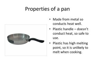 Properties of a pan