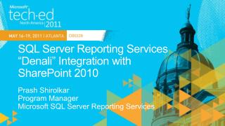 "SQL Server Reporting Services ""Denali"" Integration with  SharePoint 2010"