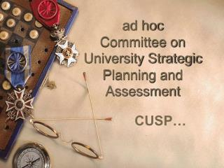 ad hoc  Committee on University Strategic Planning and Assessment