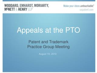 Appeals at the PTO