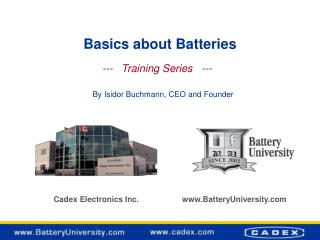 Basics about Batteries