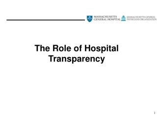 The Role of Hospital Transparency