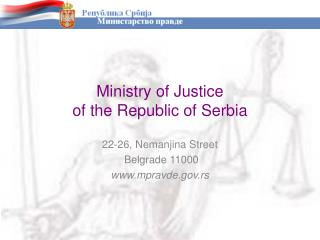 Ministry of Justice of the Republic of Serbia