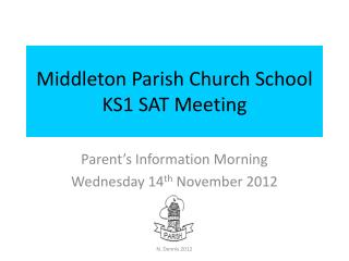 Middleton Parish Church School KS1 SAT Meeting