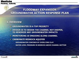 FLOODWAY EXPANSION  GROUNDWATER ACTION RESPONSE PLAN