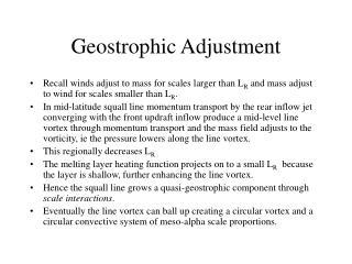 Geostrophic Adjustment