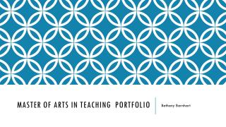 Master of Arts in Teaching   Portfolio