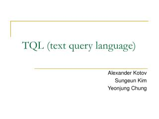 TQL (text query language)
