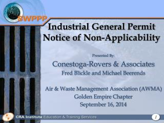 Industrial General Permit Notice of Non-Applicability