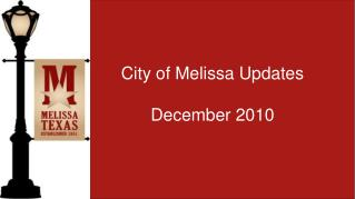 City of Melissa Updates December 2010