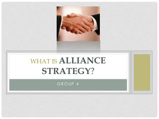 What is Alliance Strategy ?