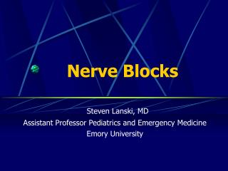 Nerve Blocks