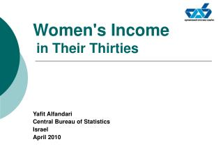 Women's Income in Their Thirties