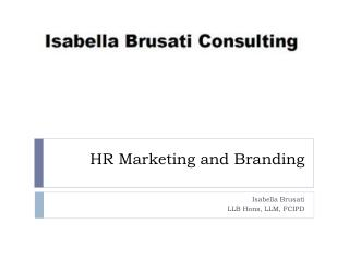 HR Marketing and Branding