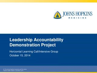 Leadership Accountability Demonstration Project