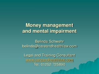 Money management  and mental impairment