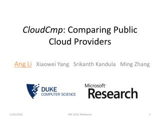 CloudCmp : Comparing Public Cloud Providers