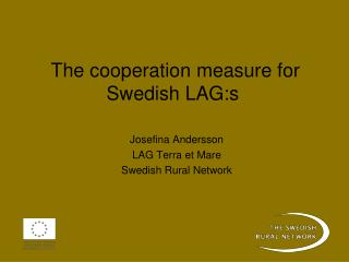 The cooperation measure for Swedish LAG:s