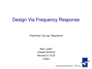 Design Via Frequency Response