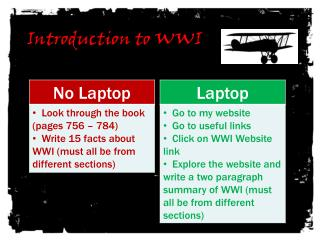 Introduction to WWI