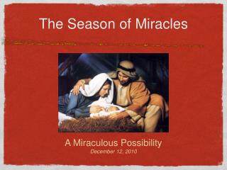 The Season of Miracles