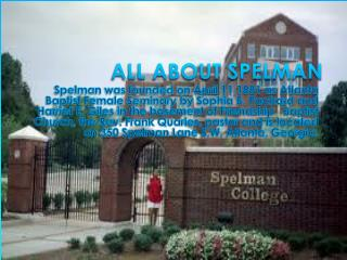 ALL ABOUT SPELMAN