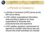 E-Portals in Commerce