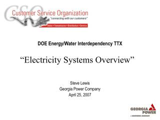 DOE Energy/Water Interdependency TTX