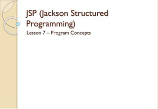 JSP (Jackson Structured Programming)
