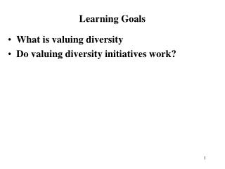What is valuing diversity Do valuing diversity initiatives work?