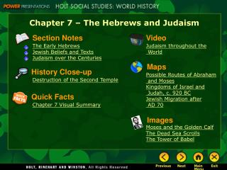 Chapter 7 – The Hebrews and Judaism