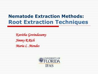 Nematode Extraction Methods: Root Extraction Techniques