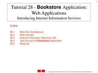 Tutorial 28 -  Bookstore Application: Web Applications Introducing Internet Information Services