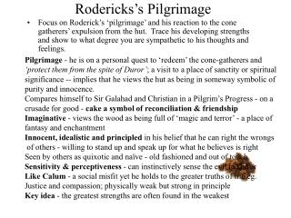 Rodericks's Pilgrimage