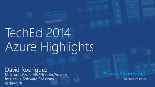 TechEd  2014  Azure  Highlights