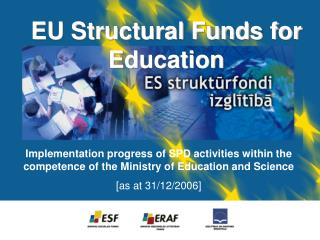 EU Structural Funds for Education
