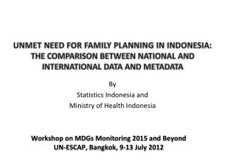 By Statistics Indonesia and Ministry of Health Indonesia