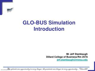 GLO-BUS Simulation Introduction