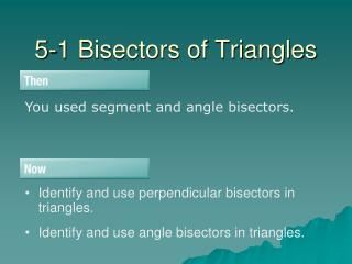 5-1 Bisectors of Triangles