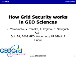 How Grid Security works in GEO Sciences