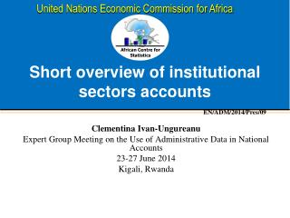 Short overview of institutional sectors accounts